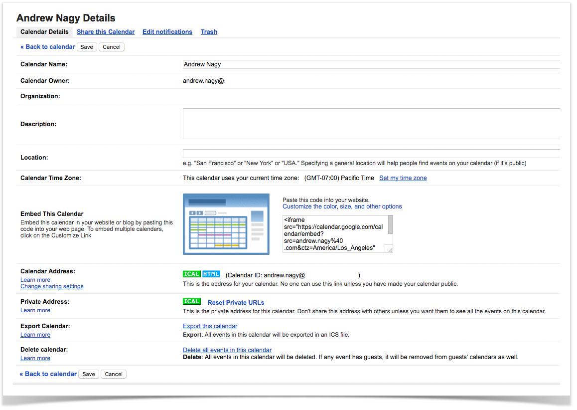 calendar google v14 0 pbx gui documentation