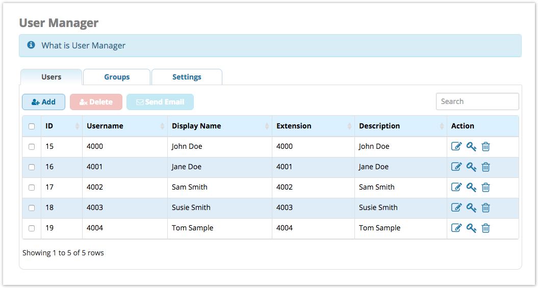 User Management Module User Guide - PBX GUI - Documentation