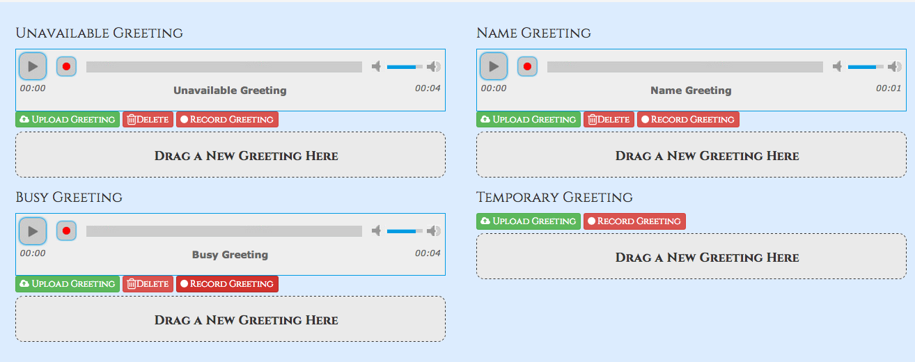 Voicemail ucp pbx gui documentation temp a temp greeting when recorded will be played instead of the unavailable or busy greeting when you delete the greeting your other greetings will be m4hsunfo