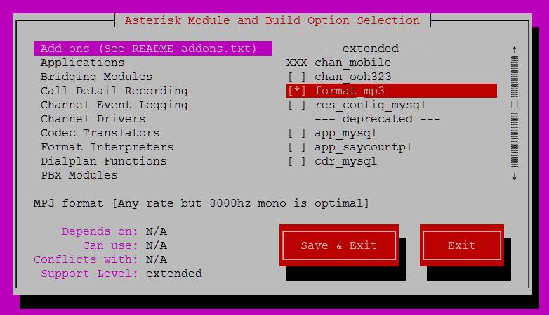 asterisk pour ubuntu