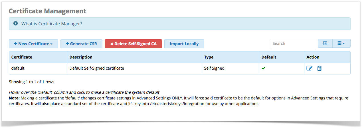 Certificate Management User Guide Pbx Gui Documentation