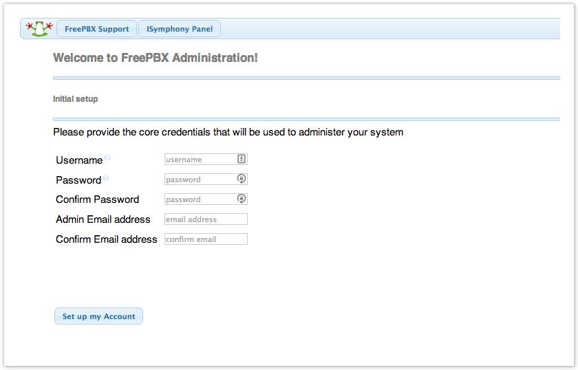 FreePBX Distro First Steps After Installation - PBX